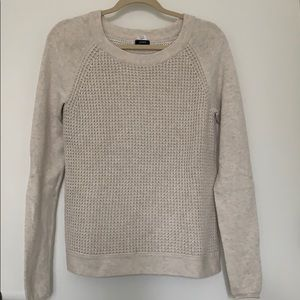 J.Crew Grey Waffle Knit Sweater Size Small